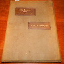 Little Journeys English Authors Joseph Addison. Elbert Hubbard 1899 Roycrofters