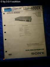 Sony Service Manual XDP 4000X Digital Equalizer Pre Amplifier (#5396)