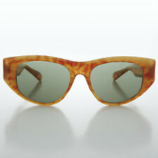Oversized Cateye Shaped Panto Vintage Womens Sunglass Blonde-Marion Crane