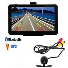 "7"" 4GB/128MB Car GPS Mirror Navigation Bluetooth AV-IN RearView Backup Camera"
