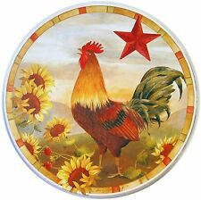 4 Pieces Rooster STAR SUNFLOWER Electric STOVE RANGE BURNER COVERS Round Yellow