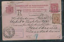 NETHERLAND INDIES (PP2806B) 189  7 1/2C PSC UPRATED 10C REG TO GERMANY