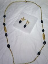 Miriam Haskel vintage necklace and earring set
