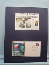 "Navy Seals Kill Osama Bin Laden & First Day Cover of  ""United We Stand"" stamp"