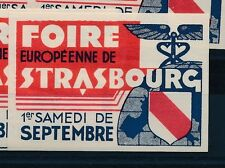 77451) Vignette Frankreich Foire Europeenne de Strasbourg ... early 50th ??