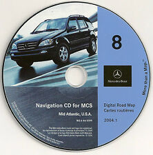 2000 2001 2002 Mercedes ML320 ML430 ML500 ML55 Navigation CD Map #8 Mid-Atlantic