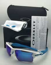 New OAKLEY Sunglasses FLAK 2.0 XL OO9188-02 White Frame w/ Sapphire Iridium Lens