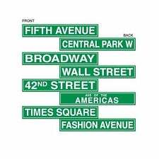 Pack De 8 estilo de Nueva York Street Signs - 10 X 61 Cm-Hollywood Party Decoración