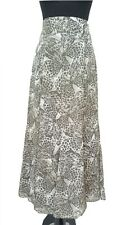 LAURA ASHLEY Skirt Size 12 Beige & Grey NEW w/TAG L41in Designer Long Boho