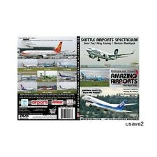 SEATTLE-Tacoma or San Diego Airport Aircraft Airline DVD Video-Brand New