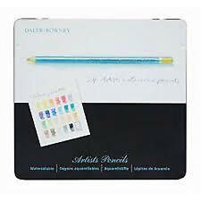Daler Rowney Artists Wet & Dry Watercolour Pencils Drawing Sketching (Tin of 24)