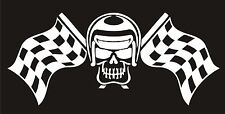 Car Truck Motorbike Vehicle Bumper Stickers Funny Flag Skull Decal