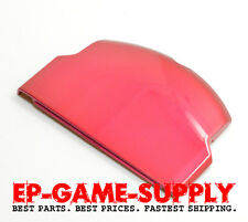 Battery Door Back Cover for Sony PSP Slim 2000 2001 Red Replacement 1200mAh