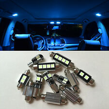 11x ice Blue LED SMD Canbus Interior lights kit for Opel Insignia Sports Tourer