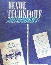 Revue technique CITROEN ID 19 ( de 1957 à 1965 ) RTA REEDITION COMPLETE