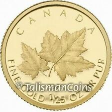 Canada 2009 Red Maple Tree 50 Cents 1/25 Ounce .9999 Pure Gold GML Proof