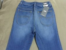 105 MENS NWT LEE SLACKER (TAPERED) VINTAGE BLUE STRETCH TRAK JEANS LRG $150.