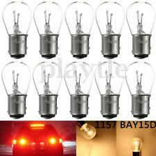 10x 1157 BAY15D 21/5W Car Halogen Light Stop Brake Tail Turn Bulb Lamp White 12V