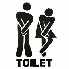 Funny Toilet Door Sign Sticker Vinyl Art Mural Decals Removable Bathroom Decor