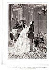 GRAVURE SUR BOIS 19è SALON DE 1873 LA CORDE AU COU D APRES TABLEAU DE A. HIRSCH