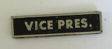 Vintage Sculpted Motorcycle Club Vice Pres. Bar P Old Metal Badge