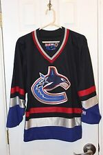navy blue Vancouver Canucks sewn / stitched CCM jersey - adult small / S