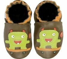 NIB ROBEEZ Shoes Lollipop Skateboard Monster Green Brown 0-6m 0 1 2