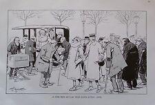 Theo Zasche A PAAR ARME BETTLER TÄTEN SCHÖN BITTEN Karikatur um 1924 Druck