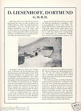 Tiefbau Liesenhoff Dortmund Historie Reklame 1925 Entwässerung Hennetalsperre