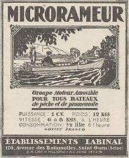 Z8792 MICRORAMEUR Moteur amovible pour Bateaux - Pubblicità d'epoca - 1925 Ad