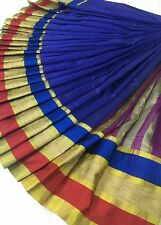 Designer Wear Silk Cotton Running Blouse Saree