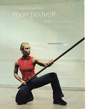 "PUBLICITE ADVERTISING 045  2003  NIKE WOMEN  vetements de sport   "" super héros"""