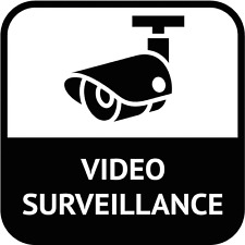 "Video Surveillance Sign Car Bumper Sticker Decal 5"" x 5"""