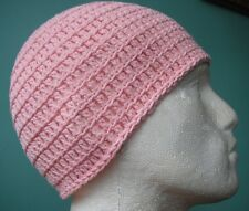 Pale Pink Cotton Irie Heights Beanie Ski, Surf, Skater Hat Rasta Tam One Size