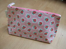 Cath Kidston oilcloth large toiletry wash bag pink lattice rose, NEW WITH TAGS