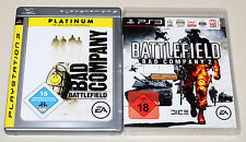 2 PLAYSTATION 3 SPIELE SET - BATTLEFIELD BAD COMPANY 1 & 2 - FSK 18 UNCUT PS3