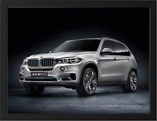 BMW X5 EDRIVE CONCEPT NEW A3 FRAMED PHOTOGRAPHIC PRINT POSTER