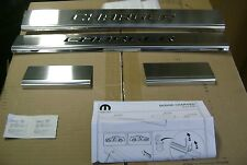 2011 2012 2013 2014 2015 2016 DODGE CHARGER LOGO STAINLESS DOOR SILL GUARDS
