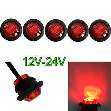 5pcs Car 12-24V LED Rear Side Marker Indicator Light For Truck Trailer Lorry