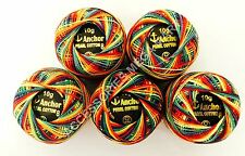 Solid Anchor Cotton Pearl Crochet Embroidery Thread Ball -Size 8 -Various Colors