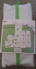 New Dove 6PC Set Shampoo/Conditioner/Body Wash/ Bar Soap/ Pouf/Carrying Case