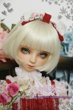 1 4 7-8 BJD Wig MSD DOC SD DZ LUTS Dollfie Doll wigs short curly blonde white