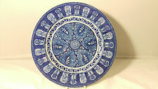"""RARE Antique Wedgwood Indian BLUE 10 3/8"""" Dinner Plate"""
