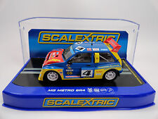 "Scalextric ""Gibson Autos"" MG Metro 6R4 S4 DPR 1/32 Scale Slot Car C3494"