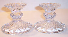 Vintage fostoria colony crystal glass candlesticks candle holders 2 a pair