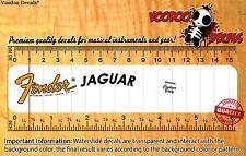 Fender Jaguar (Yellow logo) Headstock Restoration Waterslide Decal