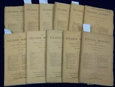 1874 THE ATLANTIC MONTHLY MAGAZINE LOT OF 11 ISSUES - HARTE - LOWELL - WR 312