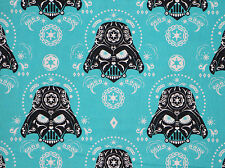 "8"" REMNANT  STAR WARS  DARTH VADER  SUGAR SKULL FABRIC QUILTING COTTON MATERIAL"