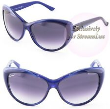 GUCCI Cat Eye Woment Sunglasses GG 3510S WOIDG Blue Violet Purple Gradient