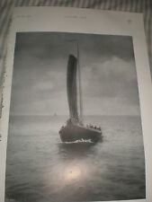 Printed photograph On the Zuyder Zee by W A J Hensler1907 ref Y3